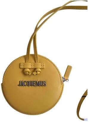Jacquemus Le Pitchou Yellow Leather Handbags