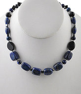 Barse Hematite, Tiger's Eye, Lapis Beaded Necklace