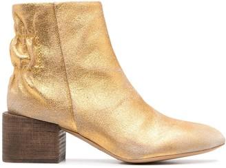Diesel Metallic-Tone Ankle Boots