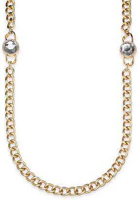 """Charter Club Crystal & Large Link 36"""" Strand Necklace"""