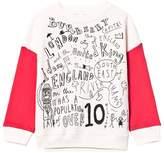 Burberry Cream and Red Printed Sweatshirt