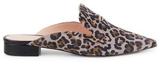 Kate Spade Loretta Leopard-Print Suede Mules