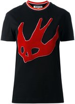 McQ by Alexander McQueen central swallow embroidery T-shirt