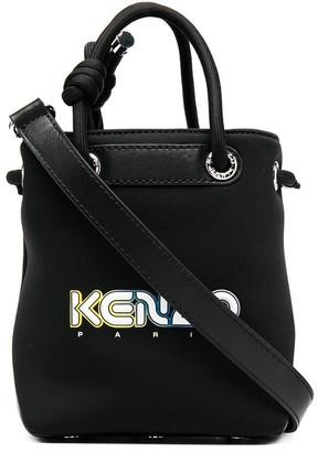 Kenzo Logo Print Bucket Bag