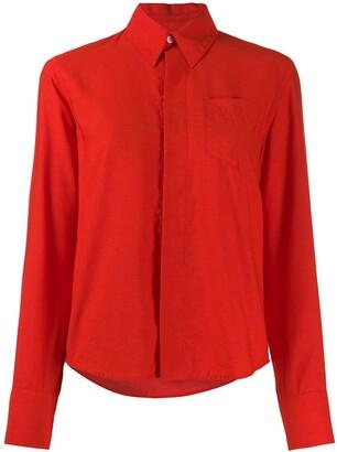 AMI Paris Pointed Collar Shirt