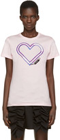 Carven Pink Neon Heart T-Shirt