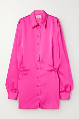 ATTICO Satin Mini Shirt Dress - Fuchsia