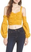 Tularosa Women's Charlie Cold Shoulder Crop Top