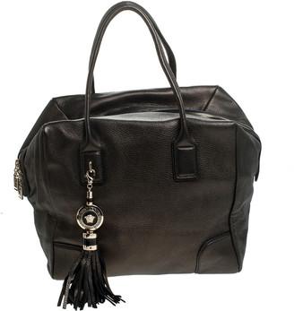 Gianni Versace Versace Dark Bronze Leather Vanitas Satchel