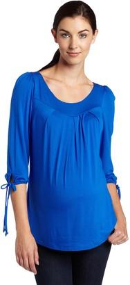 Maternal America Women's Maternity Sleeve Ties Top