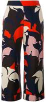 DELPOZO floral print cropped trousers