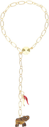 Timeless Pearly ELEPHANT CHAIN NECKLACE OS Gold, Red, Brown