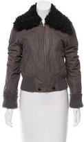 Ann Demeulemeester Shearling-Trimmed Suede Jacket