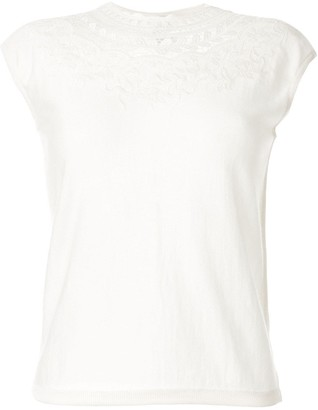 Giambattista Valli embroidered lace T-shirt