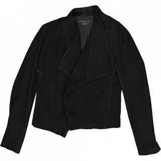 Theory Black Suede Jackets