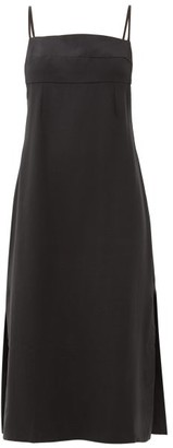 Haight Paula Side-slit Twill Dress - Black
