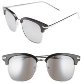 A. J. Morgan Women's A.j. Morgan Ebbets 53Mm Retro Sunglasses - Black/ Mirror