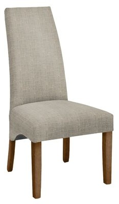 Aaron Upholstered Dining Chair Hekman Body Fabric: 1541-084, Leg Color: Aged Gray
