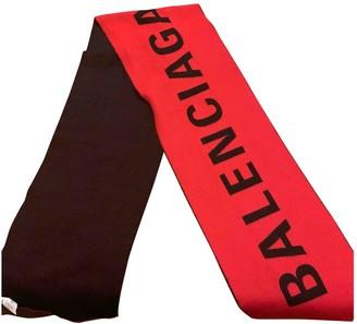 Balenciaga Red Wool Scarves & pocket squares