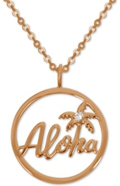 "Kona Bay Aloha Pendant Necklace in Rose Gold-Plate, 16"" + 2"" extender"