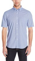 Jack Spade Men's Caulfield Micro Hounds Tooth Short Sleeve Button Down Shirt