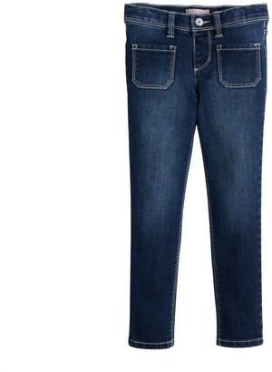 Girls 4-6x Squeeze Patch Pocket Jeggings