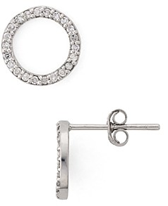 Bloomingdale's Marc & Marcella Diamond Open Circle Stud Earrings in Sterling Silver - 100% Exclusive