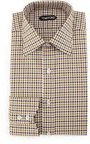 Tom Ford Gingham Dress Shirt, Aubergine