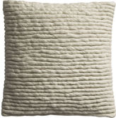 "CB2 Wool Wrap 16"" Pillow With Feather Insert"