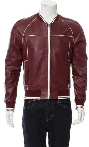 Dolce & Gabbana Leather Bomber Jacket w/ Tags