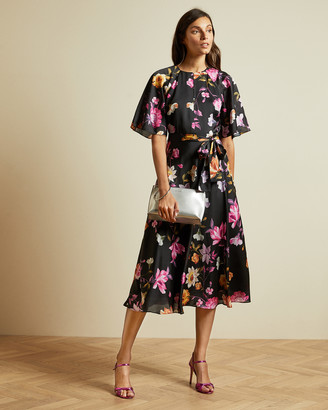 Ted Baker OSSIEE Rhubarb midi tea dress