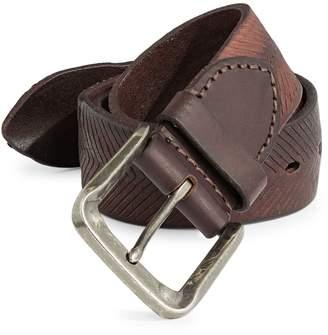 John Varvatos Chevron Leather Belt