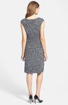 Chaus 'Whirlwind' Knot Front Print Sheath Dress