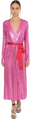 ATTICO The Sequined Wrap Dress