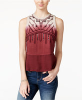 American Rag Embellished Dip-Dyed Tank Top, Only at Macy's