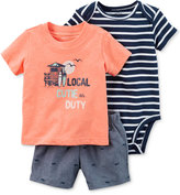 Carter's 3-Pc. Local Cutie T-Shirt, Bodysuit & Shorts Set, Baby Boys (0-24 months)