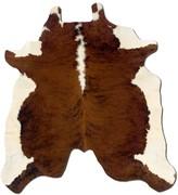Linon Brown and White Full-Skin Cowhide Rug