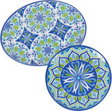 Certified International 2 Piece Morocco Round Platter & Oval Platter