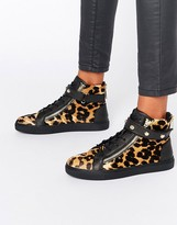 Juicy Couture Leopard High Top Trainers