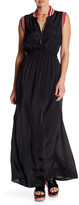 Love Moschino Sleeveless Contrast Trim Maxi Dress