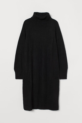H&M Knit Turtleneck Dress - Black