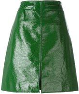 Courreges front slit pencil skirt - women - Cotton/Polyurethane/Cupro - 38