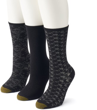 Gold Toe Women's GOLDTOE 3-Pack Floral Crew Socks