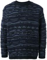 EN ROUTE patterned round neck jumper