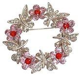 AJ Fashion Jewellery CAIRISTINE Silver tone Crystal Brooch