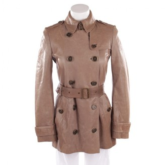 Burberry Beige Leather Jacket for Women