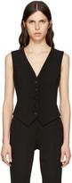 Dolce & Gabbana Black Crepe Vest
