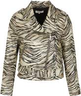 Morgan Metallic Zebra Print Jacquard Jacket