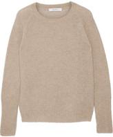 Max Mara Orbita Cashmere And Silk-blend Sweater - Mushroom