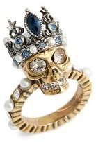 Alexander McQueen Women's Skull Queen Ring